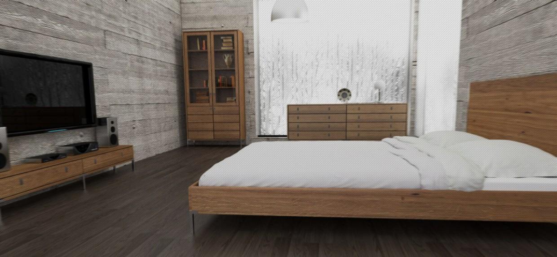 Designer massivholz bett eiche designer und unternehmer for Bett industriedesign